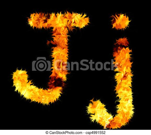 Flame Symbol J