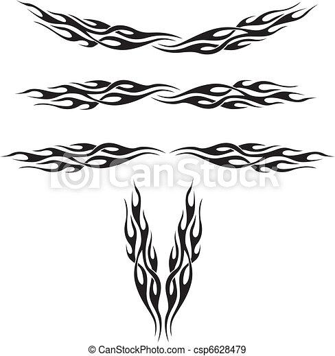 Flame Tattoos - csp6628479