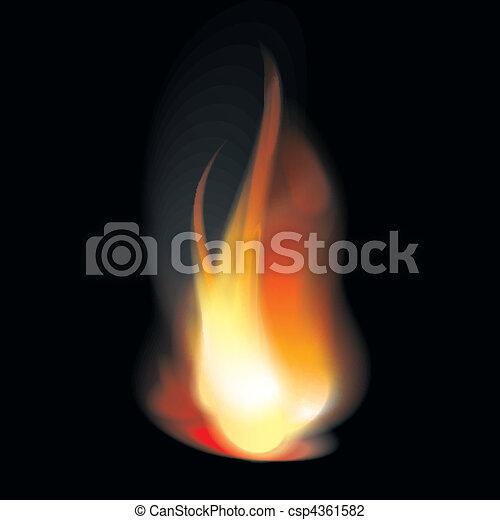 Flame tongues - csp4361582