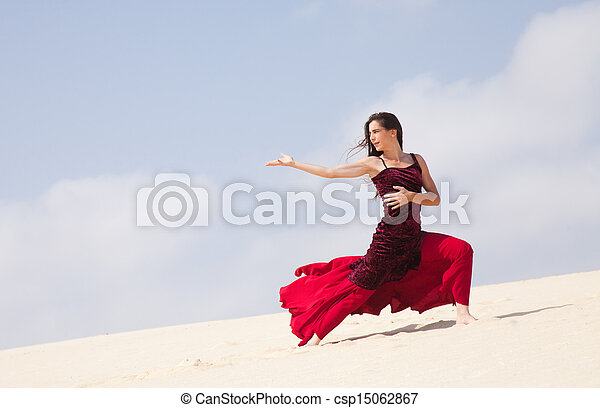 flamenco in the dunes - csp15062867