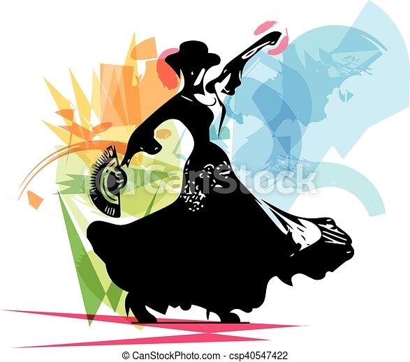 Flamenco woman dancer - csp40547422