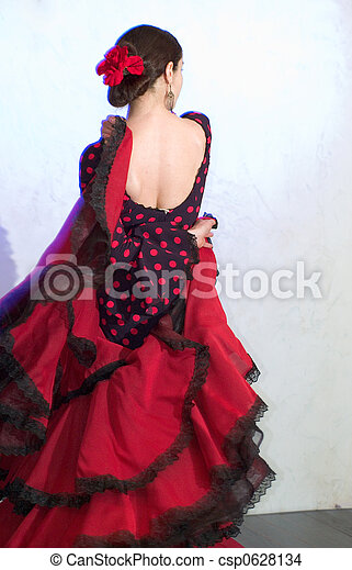 flamenko, χορευτής  - csp0628134