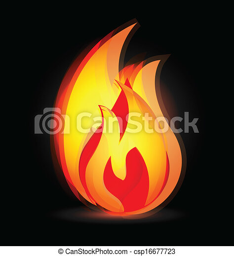 Flames in vivid colors logo - csp16677723