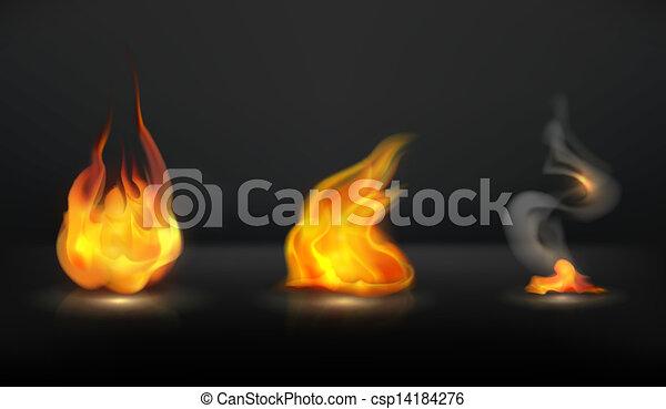 Flames set - csp14184276