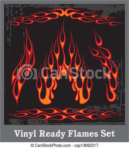 Flames - csp13692317