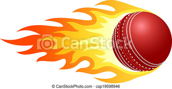 flaming cricket ball illustration of ball in fire for Flaming Soccer Ball Logo Basketball On Fire Logo
