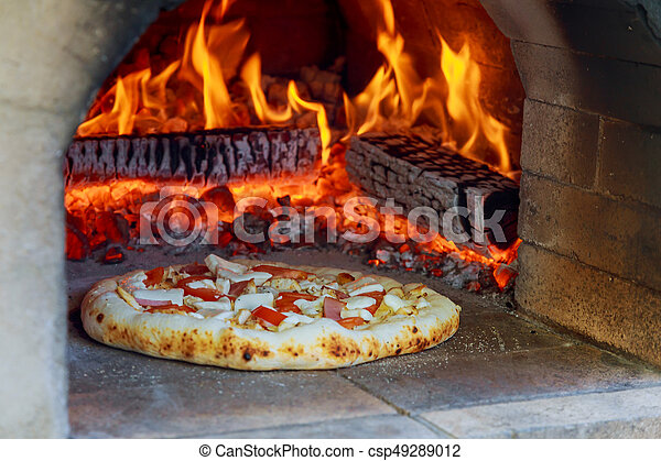 Flaming Hot Wood Fired Pizza Baking Oven