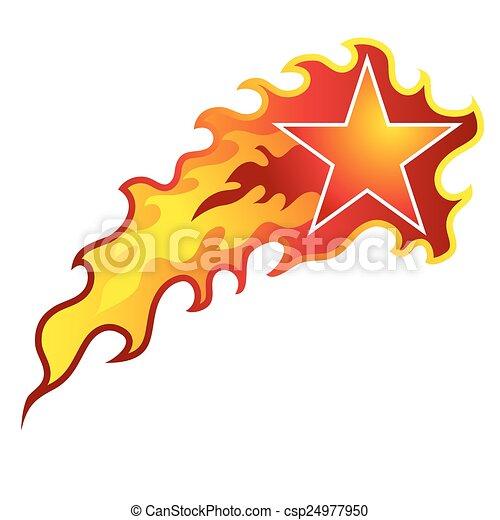 Flaming Shooting Star An Image Of A Flaming Shooting Star