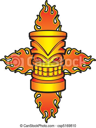 Flaming Tiki - csp5169810