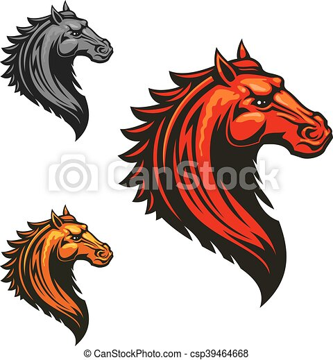 Flaming Wild Mustang Horse For Sporting Design Angry Mad Horse Icon