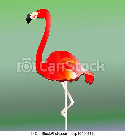 Flamingo bird vector eps10 - csp10490116