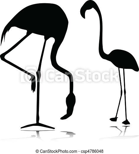 flamingo vector silhouettes - csp4786048