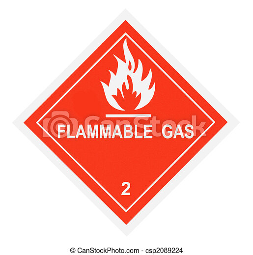 Flammable Gas Warning Label - csp2089224