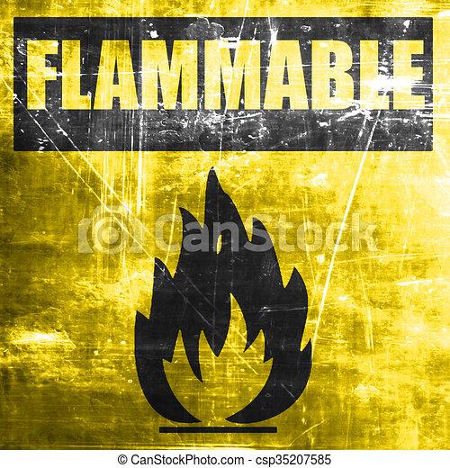 Flammable hazard sign - csp35207585