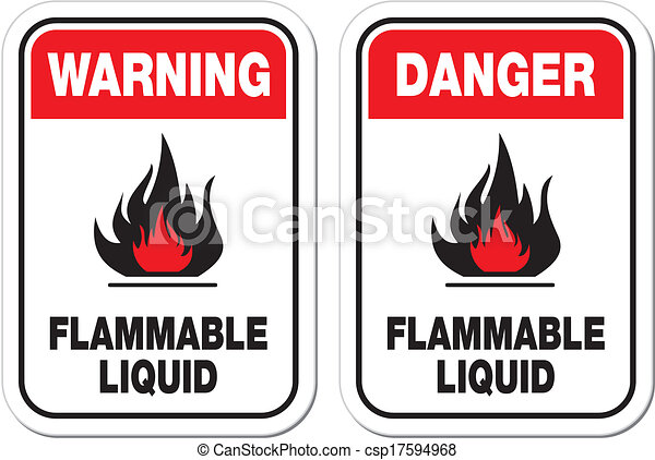 flammable liquid sign - csp17594968