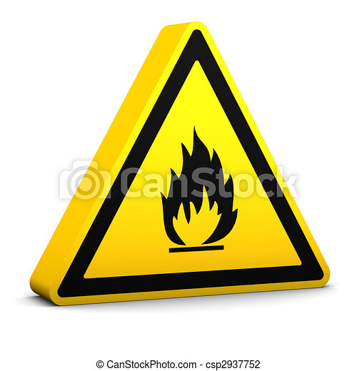 Flammable Sign - csp2937752