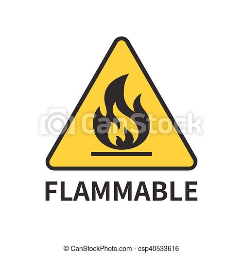 flammable sign icon - csp40533616