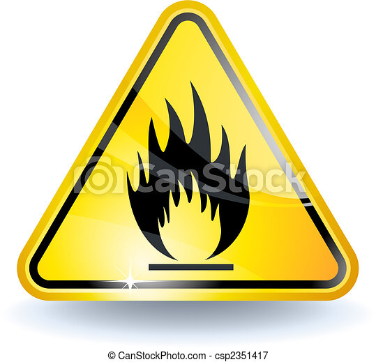 Flammable sign - csp2351417