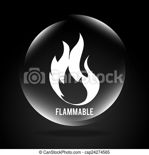 flammable signal  - csp24274565