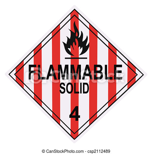Flammable Solid Warning Placard - csp2112489