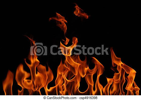 flamme, brûlé - csp4916398