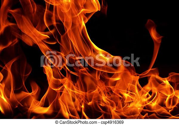 flamme, brûlé - csp4916369