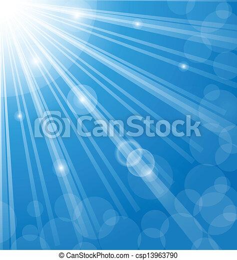 flamme, fond, résumé, bleu, lentille - csp13963790