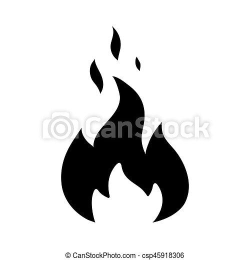 Flamme Dessin Noir