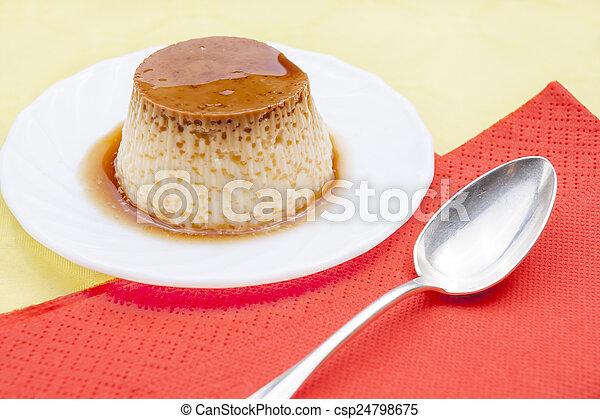 Flan dessert - csp24798675