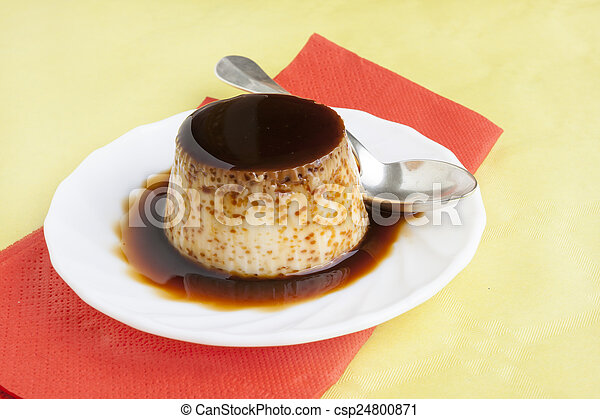 Flan dessert - csp24800871