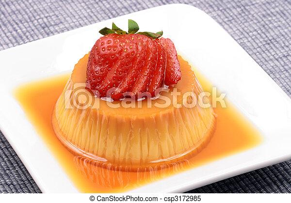 Flan dessert   - csp3172985