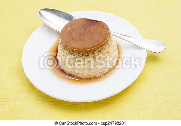 Flan dessert - csp24798201