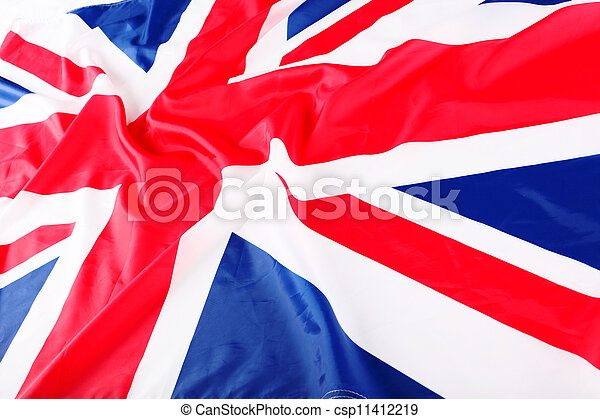 flapping flag of UK with wave - csp11412219