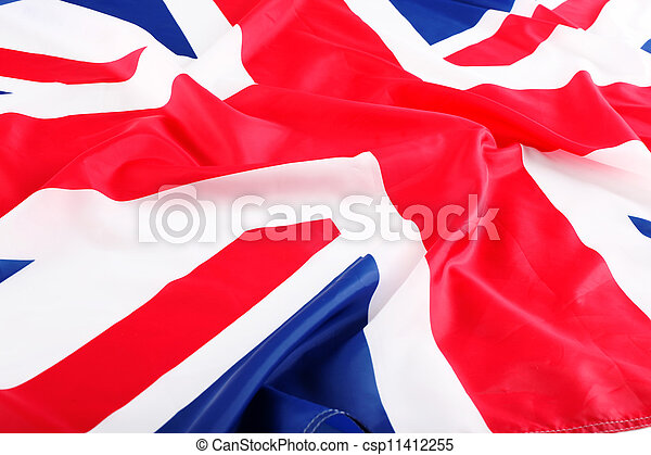 flapping flag of UK with wave - csp11412255