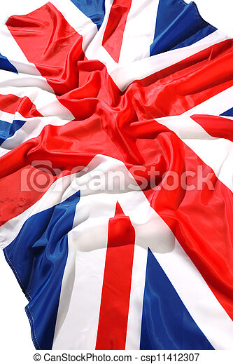 flapping flag UK with wave - csp11412307