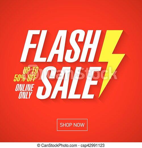 Flash Sale banner design - csp42991123