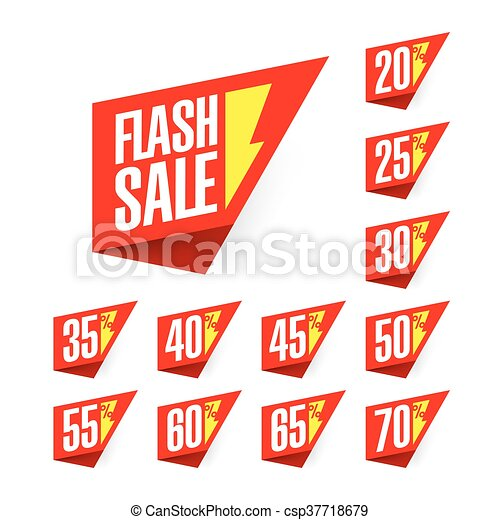 Flash Sale discount labels - csp37718679