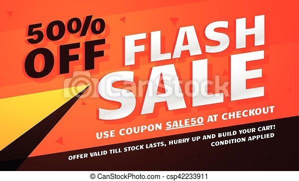 flash sale promotional banner template for marketing - csp42233911