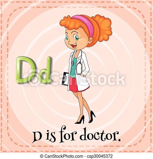La tarjeta de memoria D es para el doctor - csp30045372