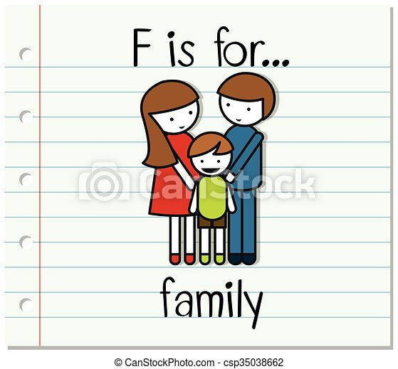 flashcard letter f is for family illustration clip art vector rh canstockphoto com small letter f clipart letter f clipart black and white