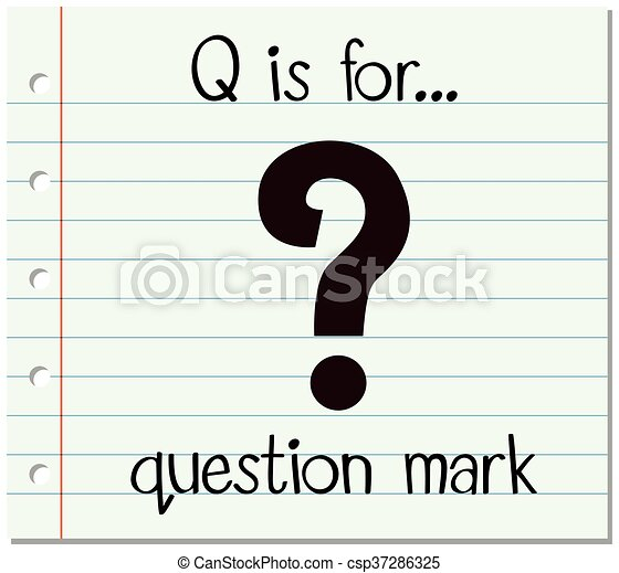 Flashcard Letter Q Is For Question Mark Illustration