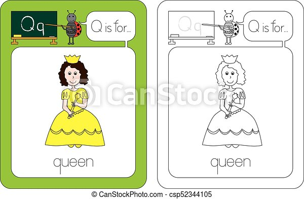 flashcard letter q flashcard for english language letter q is for