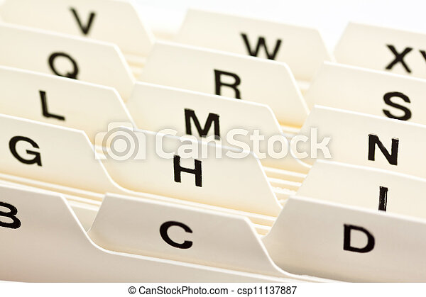 flashcards register - csp11137887