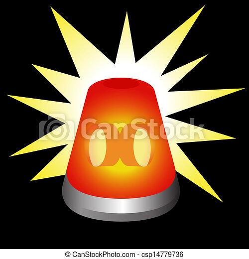 Flashing Warning Light - csp14779736