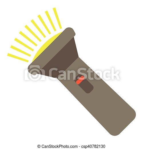 Flashlight icon, flat style - csp40782130