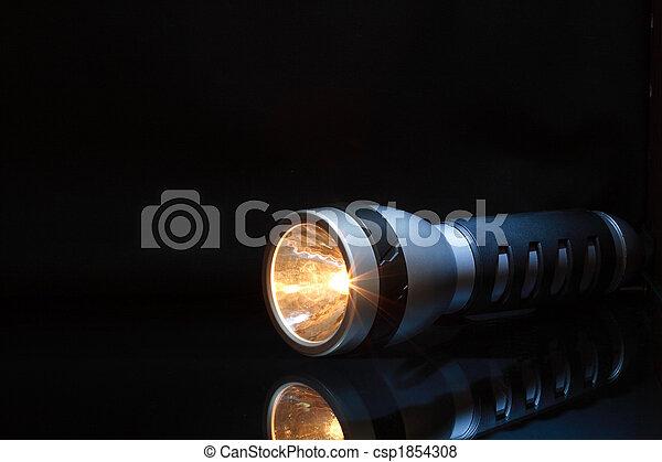 Flashlight In Dark - csp1854308