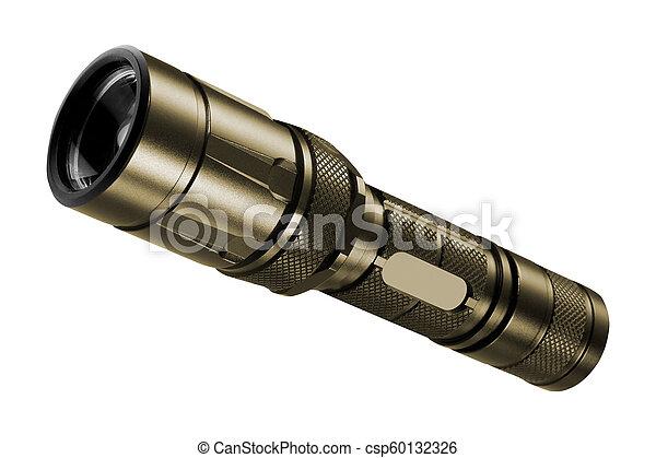 flashlight isolated on white background - csp60132326