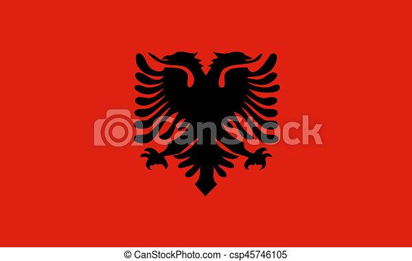 Albania Flag Drawing