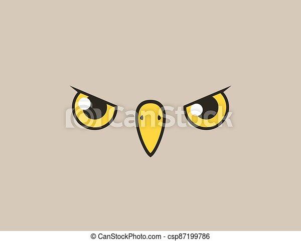 flat bird face style illustration - csp87199786
