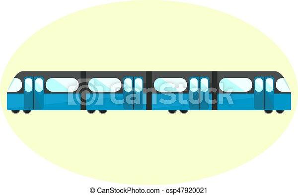 Flat Blue Undeground Icon Subway Symbol City Public Transport